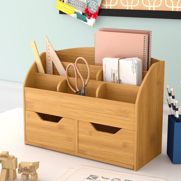 Bamboo Supplies Organizer by Rebrilliant