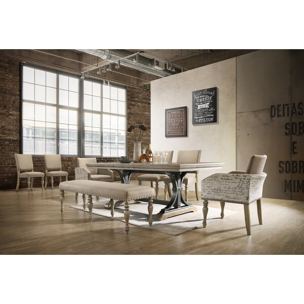 Dasher 8 Piece Drop Leaf Dining Set by One Allium Way