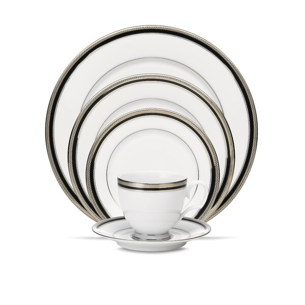 Austin Platinum 5 Piece Place Setting, Service for 1 by Noritake