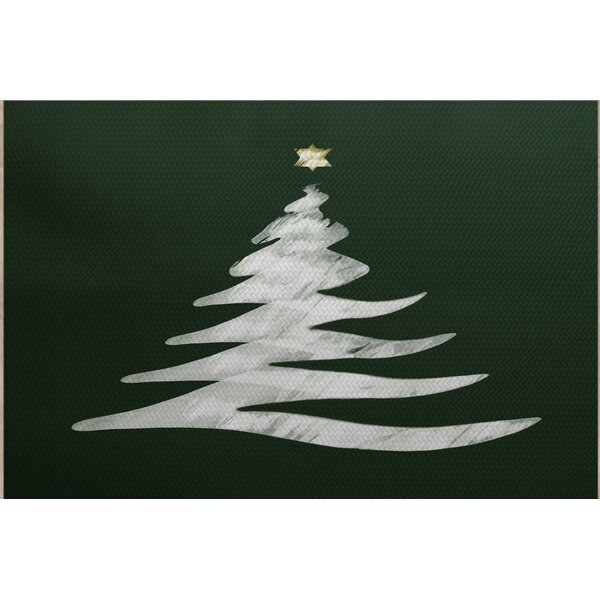 Christmass Tree Green Indoor/Outdoor Area Rug by The Holiday Aisle