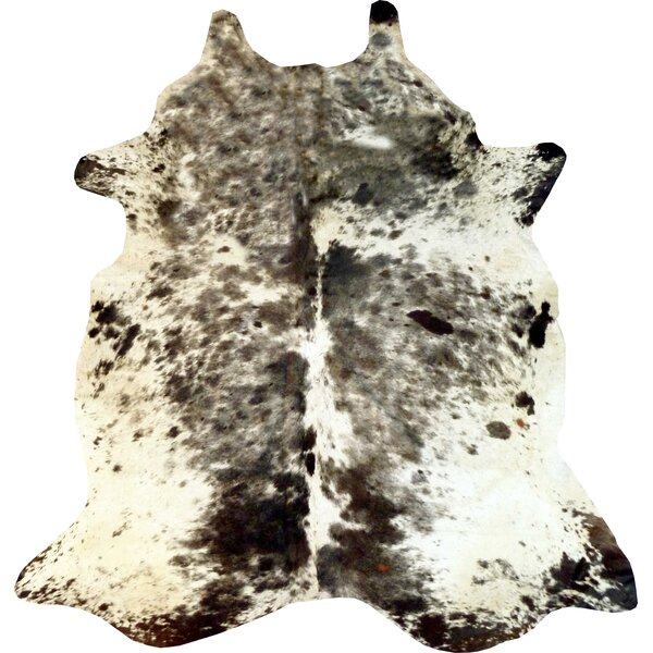 Exotic Brazilian Cowhide Black/White Area Rug by Chesterfield Leather