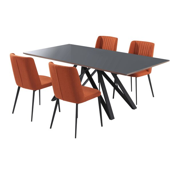 Desborough 5 Piece Dining Set (Set of 5) by Corrigan Studio