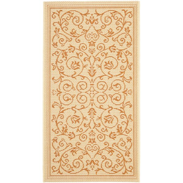 Bexton Beige/Red Outdoor/Indoor Area Rug by Alcott Hill