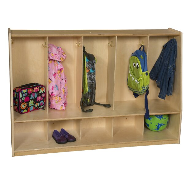 Healthy Kids 2 Tier 5 Wide Coat Locker by Wood Designs