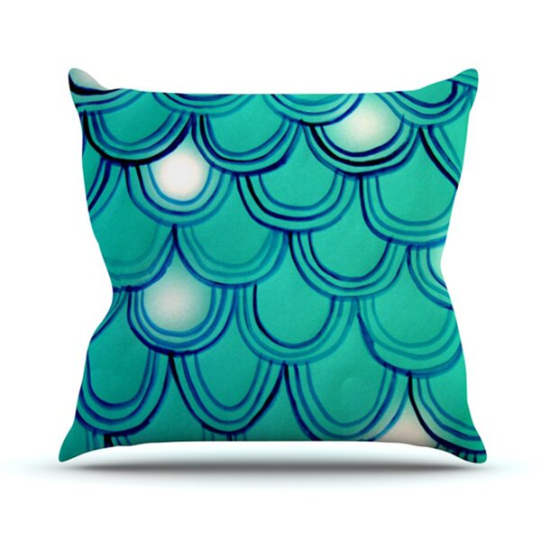 Mermaid Tail Outdoor Throw Pillow by East Urban Home