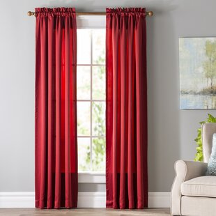 Red Curtains Amp Drapes You Ll Love Wayfair