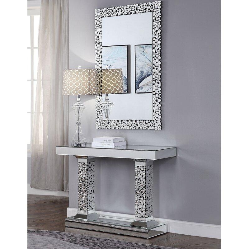Andrewhomestudio Rosalinda 47 Console Table And Mirror Set Wayfair