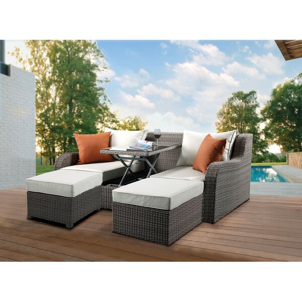 Winebarger Patio Sectional with Cushions by Orren Ellis