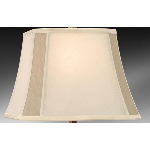10.5 H x 15 W Silk/Shantung Square Lamp Shade ( Spider ) in Eggshell