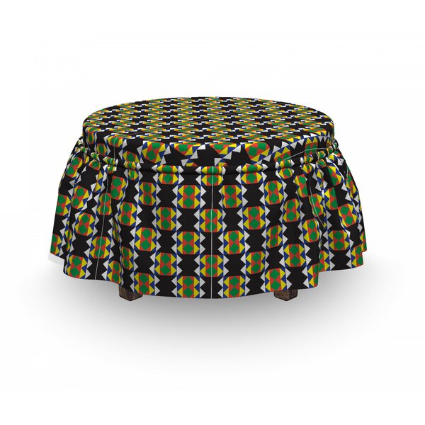 Funky Zulu Ottoman Slipcover (Set Of 2) By East Urban Home