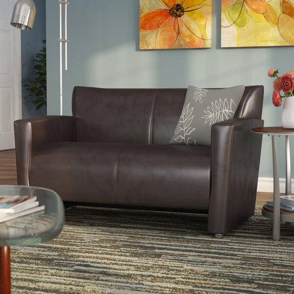 Buster Leather Loveseat by Latitude Run
