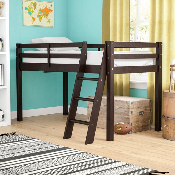 Gladwin Wood Framed Twin Loft Bed with Ladder by Zoomie Kids