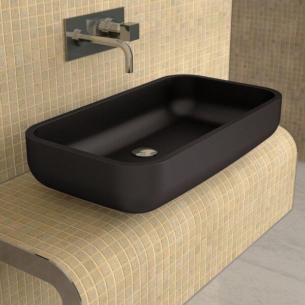 Vetro Freddo Glass Rectangular Vessel Bathroom Sink by Maestro Bath