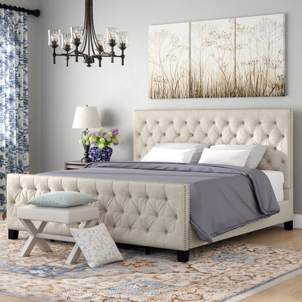 Allison Upholstered Standard Bed by Three Posts