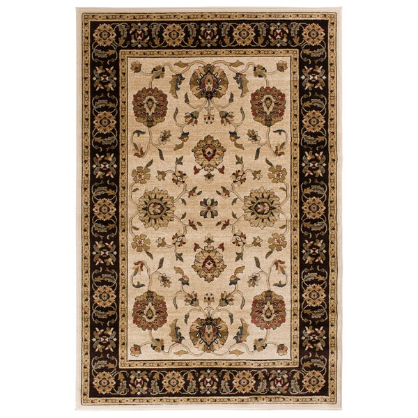 Clarkson Wheat/Brown Area Rug by Threadbind