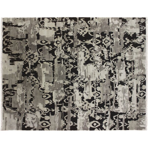 One-of-a-Kind Arsenault Fine Hand-Knotted Gray Area Rug by Isabelline