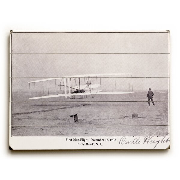 Wright Brothers Flight at Kitty Hawk Photographic Print by Charlton Home