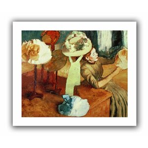 The Millinery Shop' by Edgar Degas  Painting Print on Rolled Canvas by ArtWall