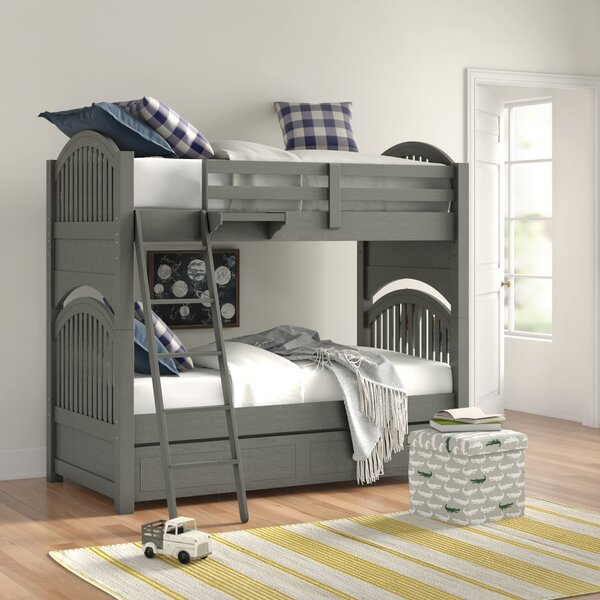 Burroughs Twin Over Twin Bunk Bed with Trundle by Kitsco