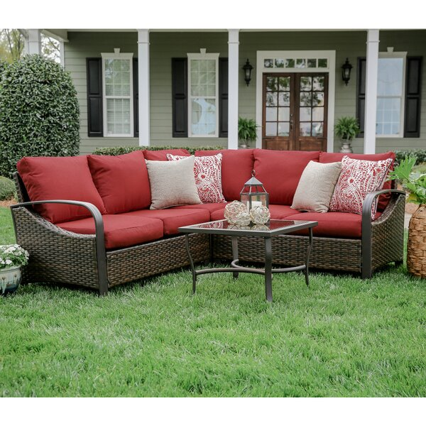Trenton 4 Piece Sectional Set with Cushions by SE Brands