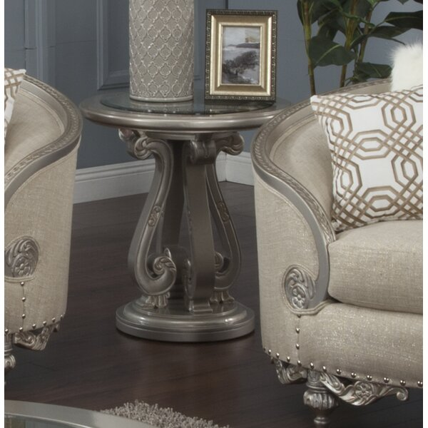 Oak Hill End Table by Astoria Grand