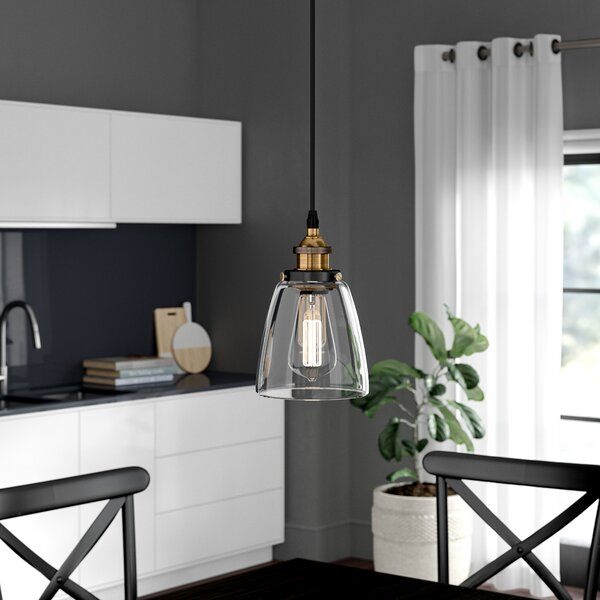 Iron Gate 1-Light Cone Pendant by Greyleigh