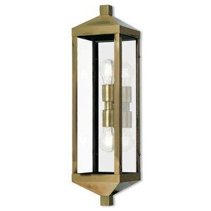 Demery 2-Light Outdoor Flush Mount