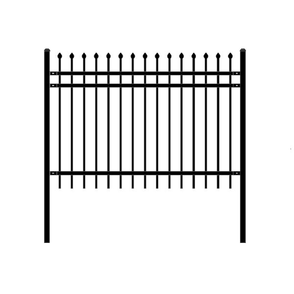 6 ft. W Rome DIY Unassembled Steel Fence Panel by ALEKO