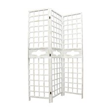78 H x 18.75 W Wood Screen 1 Panel Room Divider (Set of 2) by Fantastic Craft
