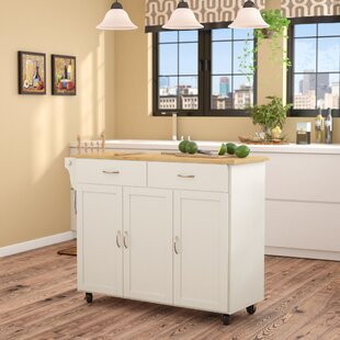 Sayers Kitchen Island with Wood Top By Alcott Hill