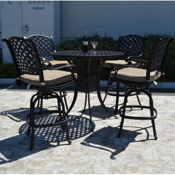 Nola 5 Piece Bar Set By Darby Home Co Great price
