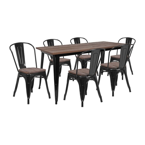 Mukilteo 7 Piece Dining Set by Williston Forge