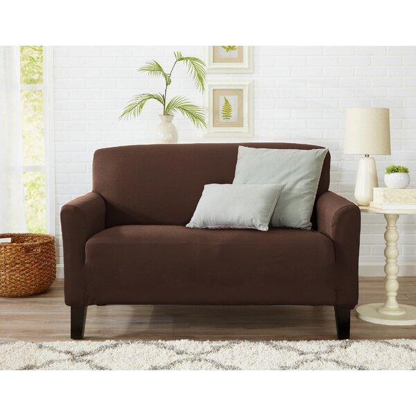 Dawson Box Cushion Loveseat Slipcover by Home Fashion Designs