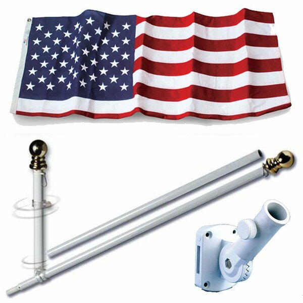 American Embroidered Polyester 3 x 5 ft. Flag Set by U.S. Flag Store