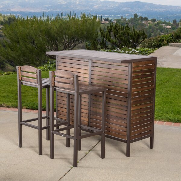 Lively 3 Piece Bar Set by Brayden Studio