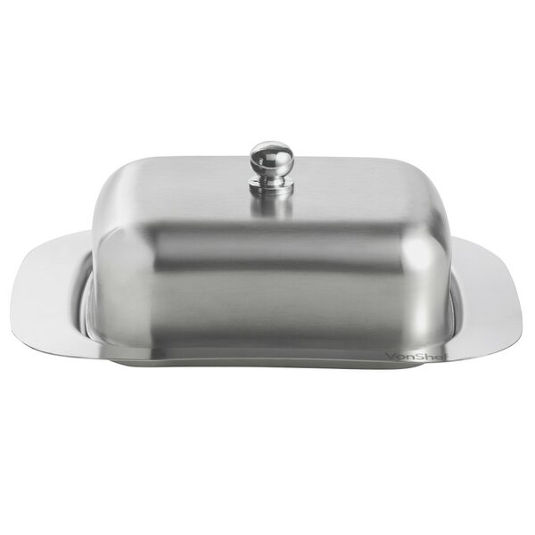 Stainless Steel Butter Dish with Lid by VonShef