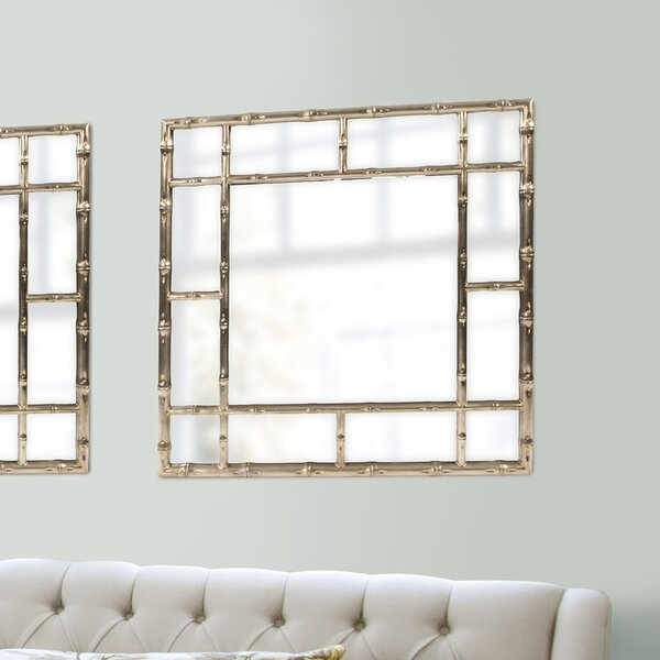 Gastonia Bamboo Wall Mirror by Bay Isle Home