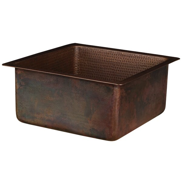 16 x 16 Undermount Bar Sink by Premier Copper Products