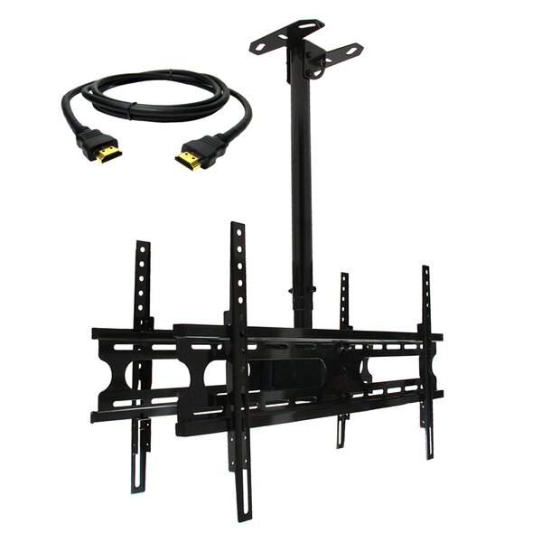Tilt/Swivel Ceiling Mount for 37'' - 70'' Flat Panel Screens by MegaMounts