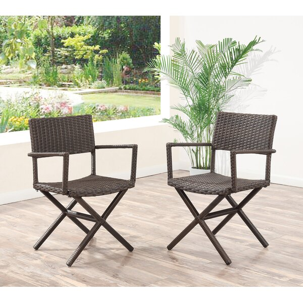 Benning Wicker Patio Dining Chair (Set of 2) by Brayden Studio