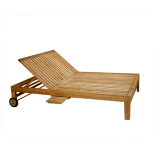 Ybanez Double Reclining Teak Chaise Lounge By Rosecliff Heights