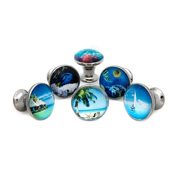 Tropical Ocean Beach Round Knob Multipack (Set of 6) by Shabby Restore