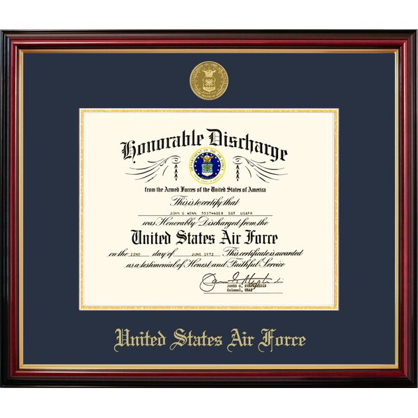 Air Force Discharge Petite Picture Frame by Patriot Frames