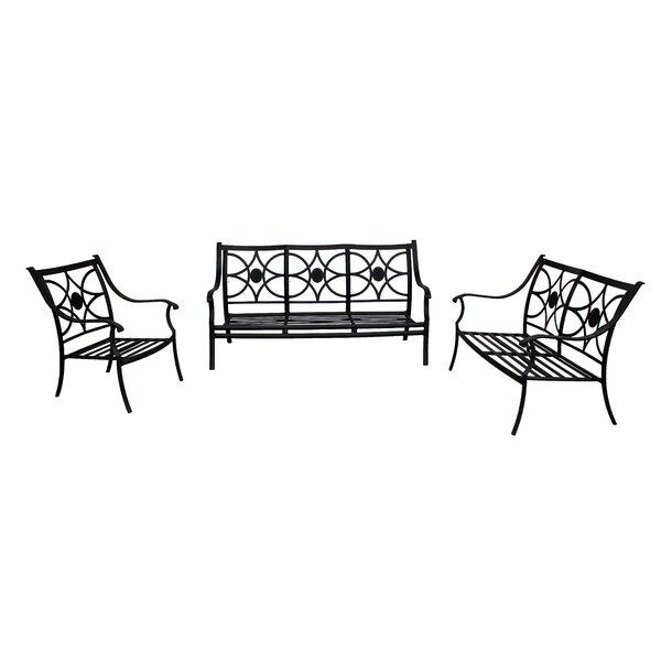 Sunderland 3 Piece Seating Group by Fleur De Lis Living