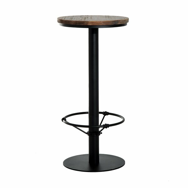 Liesel Bar Height Standing Pub Table with Wood Top by Williston Forge