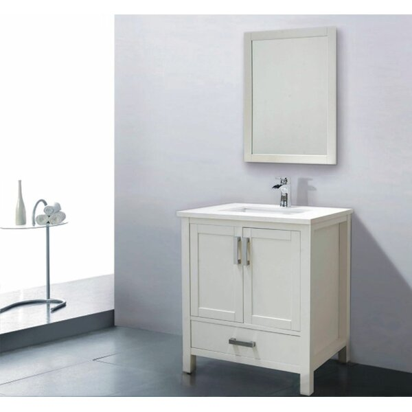 Astoria 30 Single Bathroom Vanity Set with Mirror by Adornus