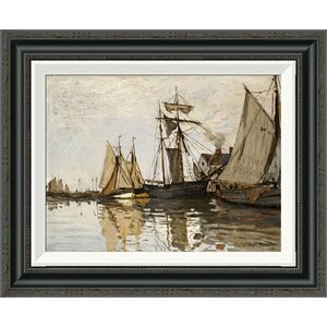 'The Port of Honfleur' by Claude Monet Framed Painting Print by Global Gallery