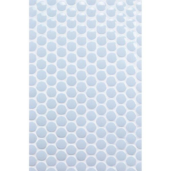 Bliss 1 x 1 Ceramic Mosaic Tile in Blue by Splashback Tile