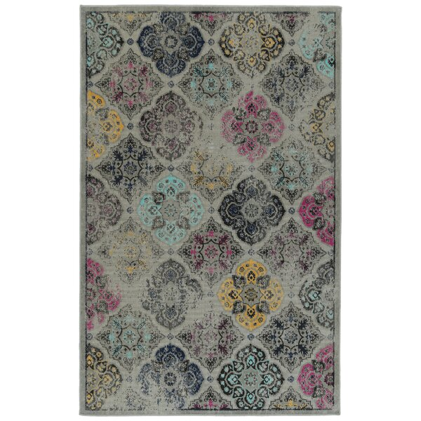 Atherton Gray Indoor/Outdoor Area Rug by Bungalow Rose