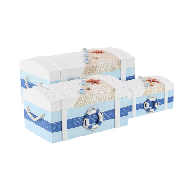 Azalea Coastal Rectangular 3 Piece Decorative Box Set by Rosecliff Heights